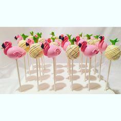 Flamingo Cake Pops  @Bitesbybrandi Bitesbybrandi@gmail.com