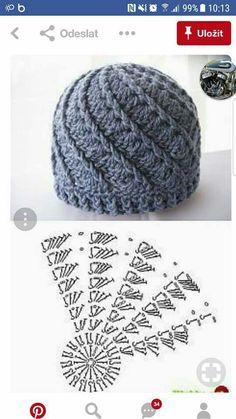 Candy Swirl Newborn Crochet Hat Pattern - Her Crochet Newborn Crochet Hat Pattern, Bonnet Crochet, Crochet Cap, Crochet Beanie, Crochet Motif, Crochet Stitches, Free Crochet, Knitted Hats, Doilies Crochet