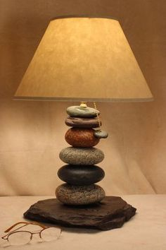 Hey, I found this really awesome Etsy listing at https://www.etsy.com/listing/177938688/cairn-rock-desk-or-accent-lamp