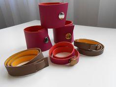 Leather bracelets/cuffs