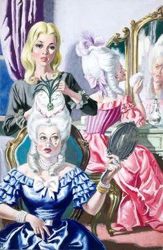 Cinderella -- Cinderella dressing the ugly sisters -- High quality art prints, framed prints, canvases -- Ladybird Prints
