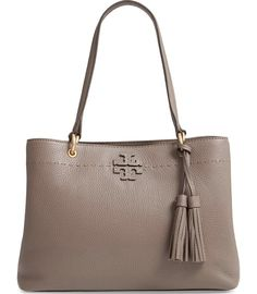 fc433575fcc4 Tory Burch Mcgraw Triple Compartment Brown Leather Satchel. Tradesy