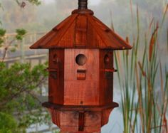 Blue Bird House Copper Bird Houses Painted by BeeGracious on Etsy