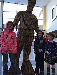 Groot from @wizardworld #Madison on the CWBT. Our kids definitely livin' the ConLife
