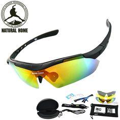 NaturalHome Cycling Polarized Bike Sunglasses Men Women Sport Glasses 3 Lens Gafas de sol Polarizadas  Oculos Ciclismo