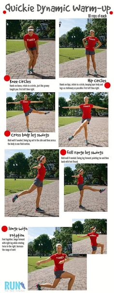 5 Minute Dynamic Stretching Warm Up to Improve Runs - RunToTheFinish Quick Dynamic Warm Up Routine for Runners ~ Runner training for life Warm Up Stretches, Stretches For Runners, Warm Up Exercises, Dynamic Stretching For Runners, Pre Run Stretches, Flexibility Exercises, Running Workouts, Running Tips, Running Drills