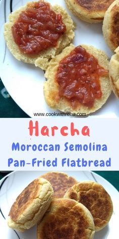 Harcha (or harsha) is a Moroccan pan-fried bread made from fine semolina Vegetarian Lunch, Vegetarian Recipes, Pan Fried Bread, Good Food, Yummy Food, Delicious Recipes, Awesome Food, Pain, The Best
