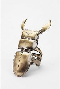 Ring | Bjorg (Nordic Jewellery Designer) 'Stag beetle' 18k gold plated sterling silver. | Was included in the Urban Outfitters Spring 2011 Catalog
