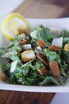 Kale caesar salad - www.meghan-leigh.com