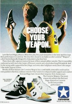 327b06879342 Marketing  though sports Product converse shoes Place magazie Price cost of  magazine Promotion converse shoes larry bird and magic johnson