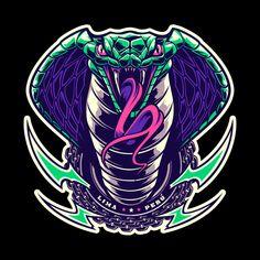 Cobra on Behance Cobra Tattoo, Old Scool, Cobra Art, Motorcycle Paint Jobs, Snake Art, Game Logo Design, King Cobra, Symbolic Tattoos, Dark Fantasy Art