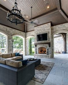 Love the setup of this outdoor patio. / Simmons Estate Homes / Luxury Custom Home Builder / DFW Area Custom Homes / Patio / Outdoor Living - Luxury Interior Outdoor Living Areas, Outdoor Rooms, Living Spaces, Outdoor Kitchens, Ikea Outdoor, Indoor Outdoor Living, Outdoor Life, Outdoor Storage, Outdoor Decor