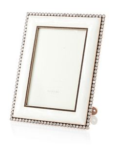 """59% OFF Swarovski by Argento SC Darling Mother-of-Pearl Picture Frame, Ivory/Copper, 4"""" x 6"""""""