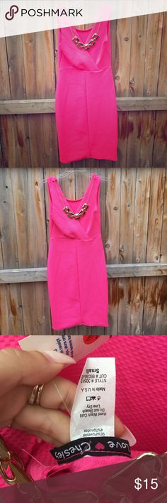 NWT Vibrant Pink Dress 👛 New with tags. Size: Small Pink dress No flaws Dresses Midi