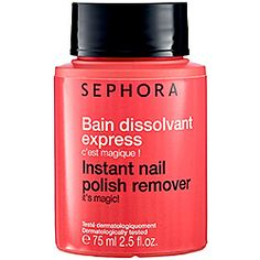 What it is:A nail polish remover that leaves no trace of past polishes. What it is formulated to do:For even the most hard-to-remove nail polish, this nail polish remover effortlessly takes off lacquers. Inside the bottle, pre-moistened pleated foam