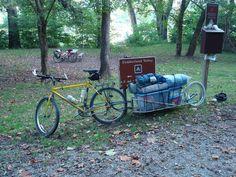 single wheel conduit trailer