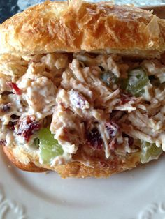 Turnips 2 Tangerines: Chicken Salad on Crossiants