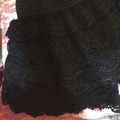 Darling! Black, lined lace shorts~ These are the cutest shorts! All black & beautiful lace with a silky black lining. C-Mode Shorts
