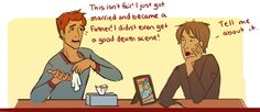 Dead Book Character Support Group: Finnick Odair and Remus Lupin. Lol