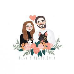 Creating lovely illustrations for your loved ones. Art And Illustration, Wedding Illustration, Portrait Illustration, Illustration Fashion, Fashion Illustrations, Portraits Illustrés, Couple Portraits, Couple Drawings, Art Drawings