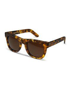 D0XRW Super by Retrosuperfuture Ciccio Tortoise Sunglasses, Brown