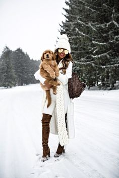 15 JAN, 2018 How To Wear Winter White - Outfit Details: Free People Beanie Free People Scarf Willow + Clay White Cardigan Sweater  DL1961 White Denim Stuart Weitzman Over-The-Knee Boots Louis Vuitton Neverfull MM Quay Gold Aviators