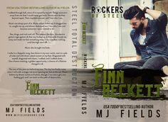 COVER REVEAL: Finn Beckett (Rockers of Steel, #2) by M.J. Fields - #RockstarAlert - Add it to your TBR! - iScream Books