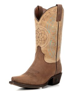 Eight Second Angel Women's Dreamcatcher Boot - Light Tan and Natural Saddle