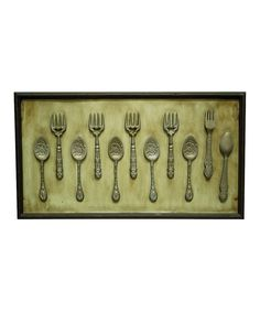 Look at this Gray Cutlery Wall Art on #zulily today!