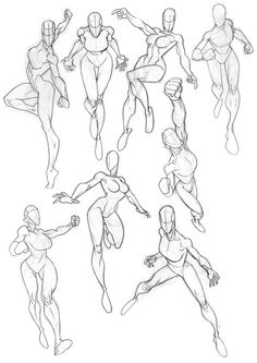 Sketchbook Fit Ladies 2 by on DeviantArt Action Pose Reference, Body Reference Drawing, Drawing Reference Poses, Hand Reference, Anatomy Sketches, Anatomy Drawing, Anatomy Art, Human Anatomy, Female Drawing Poses