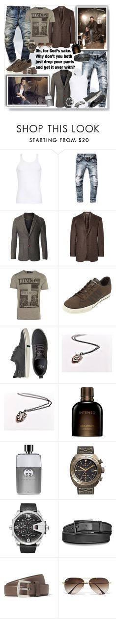 """""""Drop your pants"""" by sasane ❤ liked on Polyvore featuring Dolce&Gabbana, G-Star Raw, CO, Canali, Topman, adidas, HUF, Gucci, Szanto and Diesel"""
