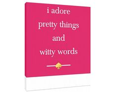 Kate Spade Quote  Canvas Custom Fashion Art Print  by TypeAndStyle, $69.00