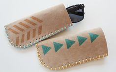 Craft your own sunglasses case with upcycled leather, felt, or vinyl. Template and tutorial included!