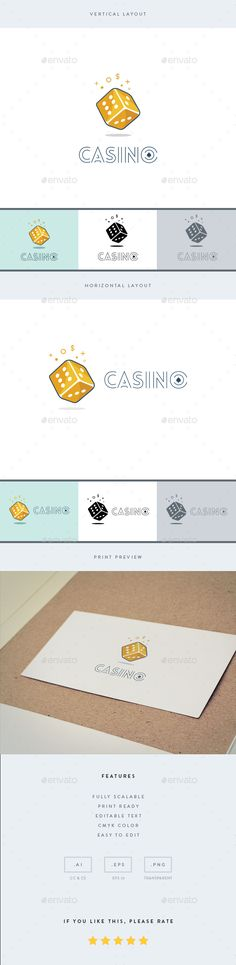 Casino  Logo Template — Vector EPS #resizable #game • Download ➝ https://graphicriver.net/item/casino-logo-template/19195850?ref=pxcr
