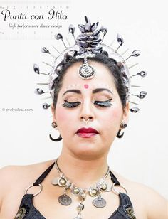 Odissi Fusion Headdress  https://www.facebook.com/puntaconhilodesign  Photography: www.evelynleal.com