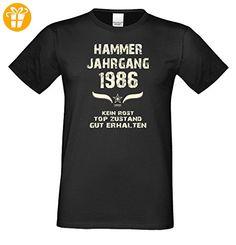 Geschenk zum 31. Geburtstag :-: Geschenkidee Herren Geburtstags-Sprüche-T-Shirt mit Jahreszahl :-: Hammer Jahrgang 1986 :-: Farbe: schwarz Gr: XXL (*Partner-Link)