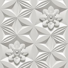 Sample Wall Flower Wallpaper in Limestone by Marcel Wanders for Graham & Brown