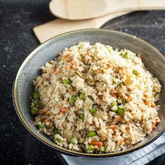 Everything you love about fried rice for under 100 calories. This vegetarian, gluten-free and paleo-friendly recipe comes together in just half an hour.