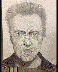 Google deep dream treatment on the #christopherwalken drawing #google #deepdream #googledeepdream #walken #freehand #filter #art_collective by whiteheadsart