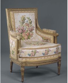 Bergère, from the Salon de Jeux of Louis XVI, Château de Compiegne, 1790; France; Jean-Baptiste Sene.