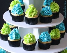 Lime Green and Blue Baby Shower Ideas | Cupcakes, Baby Shower Cakes, Limes Cupcakes, Baby Teal And Limes Green ...