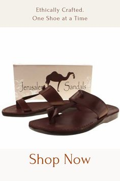 Each sandal is handmade with natural ingredients that only get better with time and wear. They give you a look and feel unlike mass-produced sandals where no two are alike. Jesus Sandals, Jerusalem, Huaraches, Leather Sandals, Designer Shoes, Watches, Natural, Handmade, Bags
