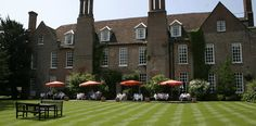 Hintlesham Hall Hotel , Hintlesham, Suffolk A magnificent century country house hotel Self Catering Cottages, Country House Hotels, 16th Century, Best Hotels, The Good Place, Golf Courses, Mansions, House Styles, Places