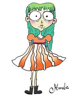 Patricia Probleminha digitalizada #draw #desenho #ilustração #cute #girl #doodle