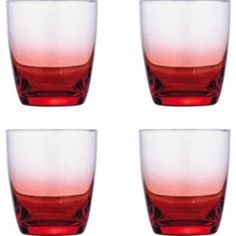 £12.99 Faded Red Glasses - 4 Tumbler Glasses at Argos.co.uk - Your Online Shop for Glasses.