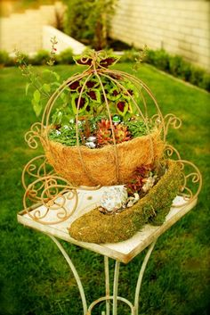 Cinderella miniature fairy garden!