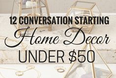 12 Conversation starting home decor under $50