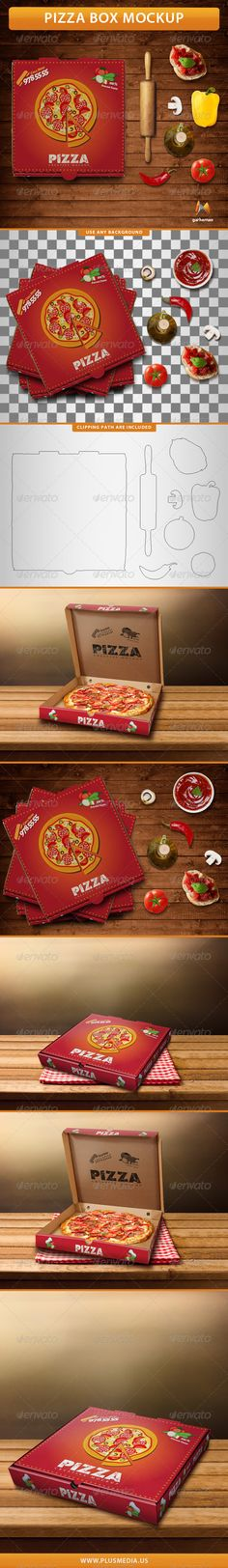 Pizza Box Mockup — Photoshop PSD #corrugated #mockup • Available here → https://graphicriver.net/item/pizza-box-mockup/7733962?ref=pxcr
