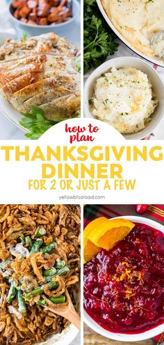Thanksgiving for Two or a Few - Planning a Small Scale Holiday Gathering