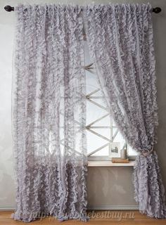 Girls Bedroom Curtains, Shabby Chic Curtains, Home Curtains, Panel Curtains, Bedroom Decor, Rideaux Design, Bedroom Cupboard Designs, Beautiful Curtains, Glam Room